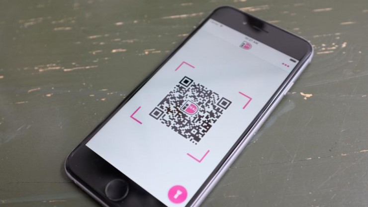 iDEAL QR-code op iPhone